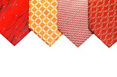 Selelction of ties isolate. D on the white Stock Photo