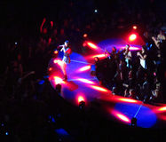 Selena and Crowed at the Air Canada Centre Royalty Free Stock Photos