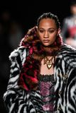 Selena Forrest walks the runway at the Versace Pre-Fall 2019 Collection. NEW YORK, NEW YORK - DECEMBER 02: Selena Forrest walks the runway at the Versace Pre royalty free stock image