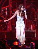 Selena Gomez presteert in y-100 Jingle Ball stock afbeelding