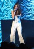 Selena Gomez presteert in y-100 Jingle Ball stock foto