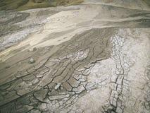 Selenar sikt av gyttjavulcanoen Arkivbild