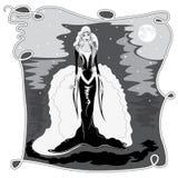 Selene the moon goddess Royalty Free Stock Image