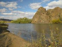 Selenge river Mongolia Royalty Free Stock Photography