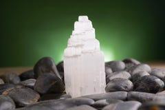 Selenita mineral del yeso Imagen de archivo libre de regalías