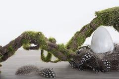 Selenite egg in nest Stock Photo