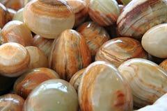 Selenite (mineral)  eggs background Stock Image