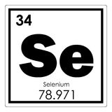 Selenium chemical element. Periodic table science symbol stock illustration