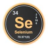 Selenium Se chemical element. 3D rendering. Isolated on white background stock illustration