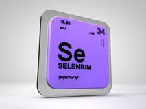 Selenium- Se - chemical element periodic table. 3d render Stock Images