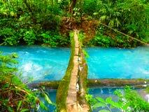 Seleste flod Costa Rica Royaltyfria Foton