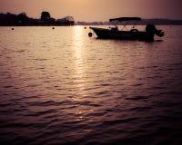 Seletar soluppgång Arkivbild