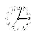 Seletor análogo branco preto da face do relógio, isolado foto de stock royalty free