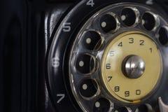 Seletor de telefone discado soviético velho, close-up fotografia de stock