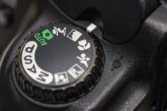 Seletor do modo da câmera fotografia de stock