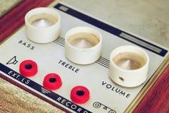 Seletores macro do amplificador do vintage do close up Foco seletivo Fotos de Stock Royalty Free