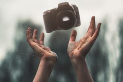 Selevtice Photography of Black Canon Dslr Camera Above Human Hands Stock Photos