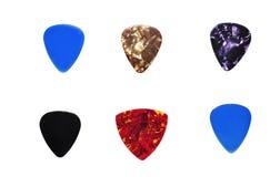 Selezionamenti Assorted della chitarra Fotografia Stock