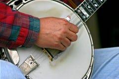 Selezionamento del banjo Fotografie Stock Libere da Diritti