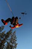 Selezionamento dell'elicottero fuori Fotografie Stock Libere da Diritti
