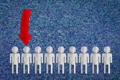 Selezionamento dell'uomo su selezionato dal gruppo di gente di affari Immagine Stock