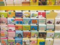 Selezione americana della cartolina d'auguri al deposito Fotografia Stock