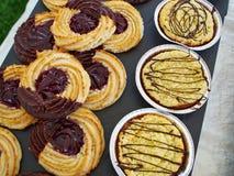 Selezione dei biscotti tradizionali della pasticceria del marzapane Fotografia Stock Libera da Diritti