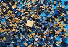 Selezione dei componenti elettronici Immagini Stock