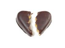Selezione dei cuori del cioccolato Fotografia Stock