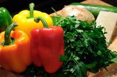 Selezione dei peperoni dolci Immagini Stock