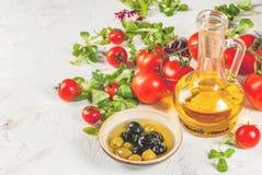 Selezione dei prodotti per insalata Immagine Stock