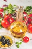 Selezione dei prodotti per insalata Immagine Stock Libera da Diritti