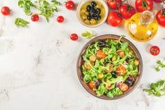Selezione dei prodotti per insalata ed insalata Fotografia Stock Libera da Diritti