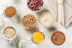 Selezione dei prodotti senza glutine Fotografia Stock