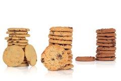 Selezione del biscotto di pepita di cioccolato Immagini Stock Libere da Diritti