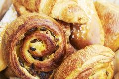 Selezione del Croissant e delle pasticcerie Fotografia Stock Libera da Diritti