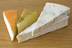 Selezione del formaggio Immagini Stock