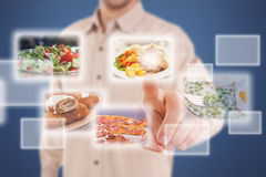 Selezione dell'alimento Fotografie Stock