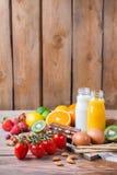 Selezione dell'alimento di allergia, concetto sano di vita Fotografie Stock Libere da Diritti