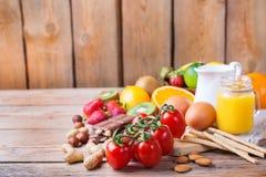 Selezione dell'alimento di allergia, concetto sano di vita Immagini Stock Libere da Diritti