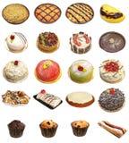 Selezione della crostata e del dolce Fotografie Stock