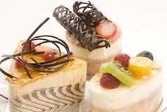 Selezione delle torte fotografie stock libere da diritti