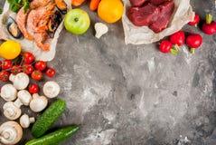 Selezione di alimento dietetico sano Immagine Stock Libera da Diritti