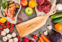 Selezione di alimento dietetico sano Fotografia Stock