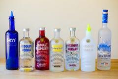 Selezione di Antivari della vodka Fotografia Stock Libera da Diritti