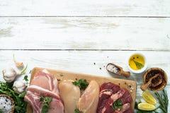 Selezione di carne differente fotografia stock