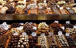 Selezione di cioccolato fotografia stock