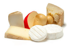 Selezione di formaggio Fotografia Stock