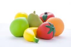 Selezione di frutta artificiale Immagini Stock Libere da Diritti