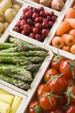 Selezione di frutta e delle verdure fresche Fotografia Stock Libera da Diritti